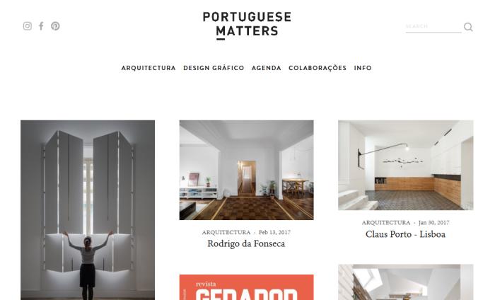 Portuguese Matters arquitectura e design gráfico em português