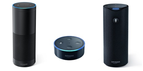 Amazon Echo, Amazon Tap e Amazon Echo Dot